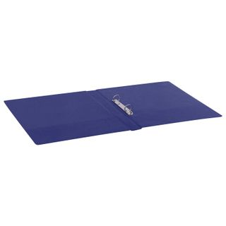 Folder on the 2 rings BRAUBERG, cardboard/PVC, 35 mm, blue, up to 180 sheets (double life)