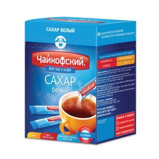 "TCHAIKOF / Sugar sticks ""Chaikofsky"", 5 g, white, portioned, 60 sachets, 0.3 kg, carton"