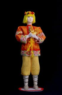 Doll gift porcelain. July. Fairy tale character.
