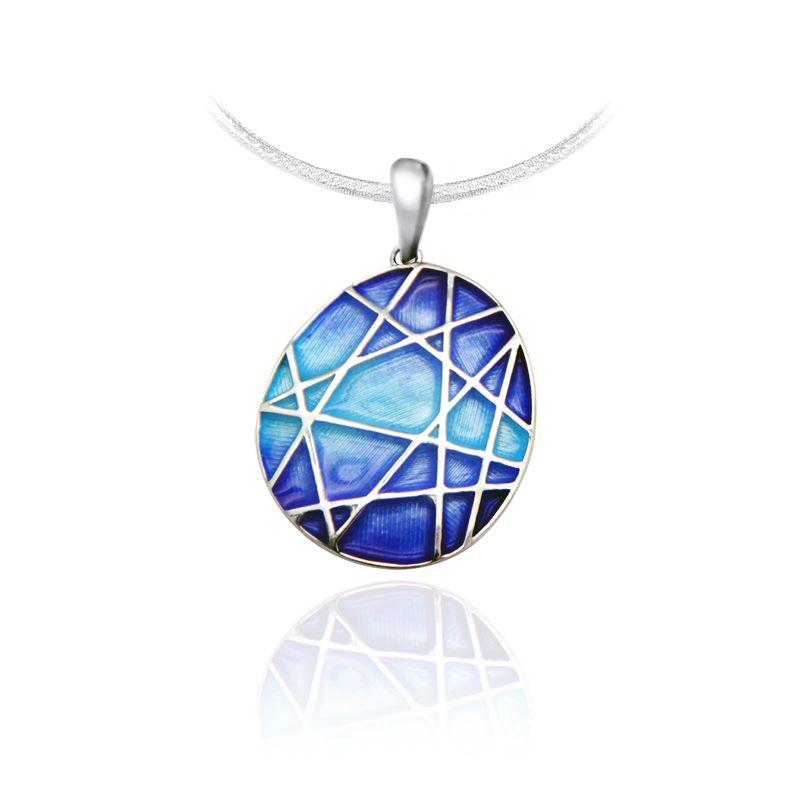 "Rostov enamel / Pendant ""Mosaic"" blue"