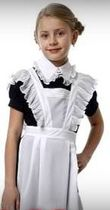 School uniform for girls - dresses, sarafans, skirts and lace aprons, collars and cuffs