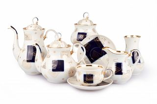 Dulevo porcelain / Tea and coffee service 29 pcs. Zigzag