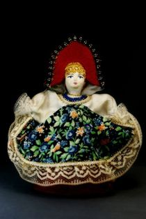 Doll gift porcelain. Dancer. Girl in Russian costume (styling). Late 19th-early 20th century.
