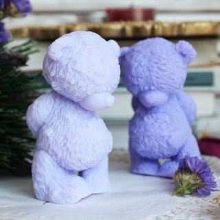 Teddy the Shy Bear - handmade soap