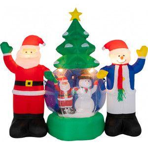 "Inflatable street figure 3D ""Santa Claus and Snowman"", 210 cm."
