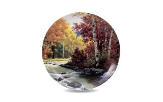Dulevo porcelain / Wall plate Autumn, diameter 200 mm