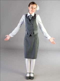 """Vest Glamor from the collection """"School waltz"""", half-visis"""