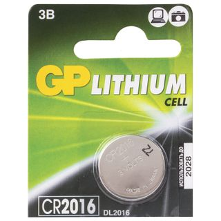 GP / Lithium CR2016 lithium battery, 1 pc. in a blister (tear-off block)