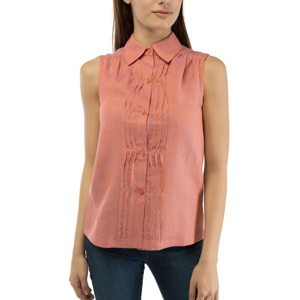 Women's blouse 'Watercolor' pink color with silk embroidery