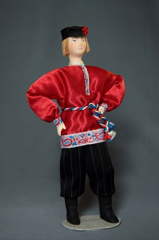 Doll gift porcelain. Russia. A guy in formal attire. Late 19th-early 20th century.