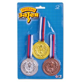 FUNNY ZATEYA / Champion's Holiday Medal, SET of 3 pieces (gold, silver, bronze)