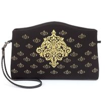 Beautician 'Iolanta' in black with gold embroidery