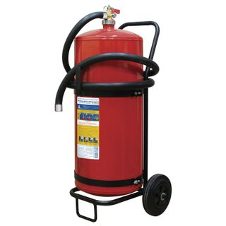 MIG / Powder fire extinguisher OP-50, mobile, ABCE (solid, liquid, gaseous substances, electrical installations)