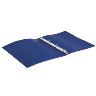 Folder on 4 rings STAFF, 25 mm, blue, up to 170 sheets, 0.5 mm