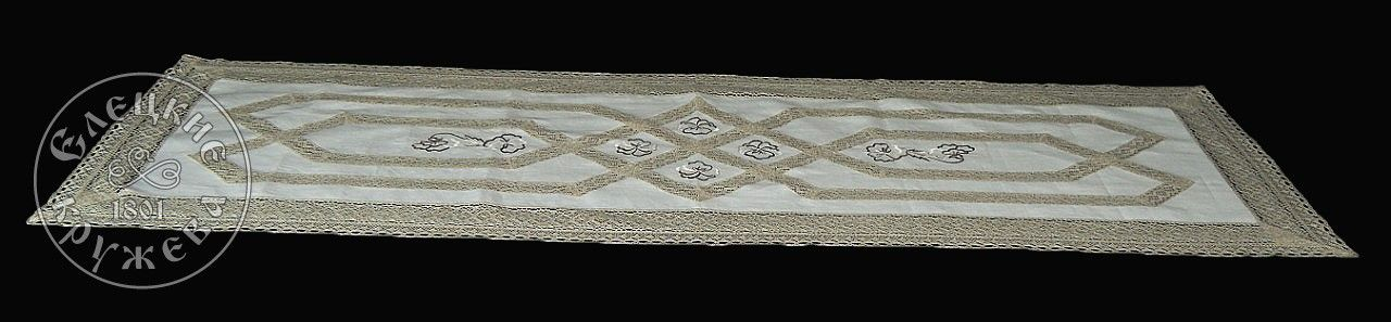 Elets lace / Linen table runner S2341