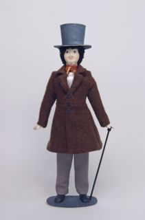 Doll gift porcelain. Buck. The secular male costume. 1st half of the 19th century. Russia.