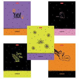 Notebook A5, 48 sheets, HATBER, staple, cage, matte lamination, embossment,