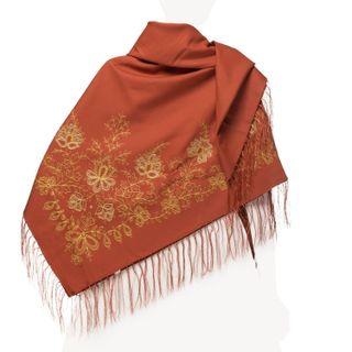 """Woolen scarf """"Garden of Eden"""""""
