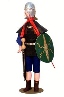 Doll gift. Rider. The Roman Empire. 4-6 century BC. The military uniform.