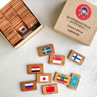 """Memori """"flags of the world"""" in a cardboard box (60 chips)"""