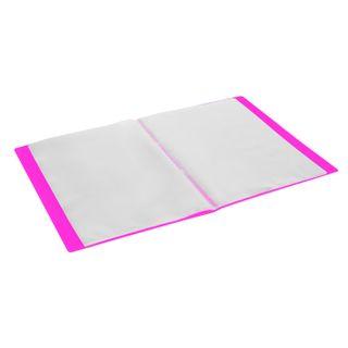 "Folder 40 sacks BRAUBERG ""Neon"", 25 mm, neon pink, 700 µm"