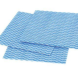 LIME / Universal napkins, 34x38 cm, 50 g / m2, viscose (s-lacing), blue wave, SET of 10 pcs.