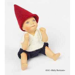 Birgitte Frigast / Porcelain doll Baby Bertram, 10 cm