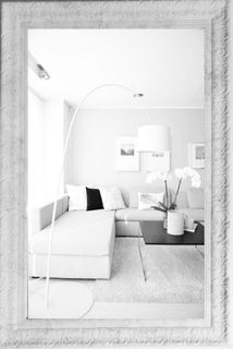 Big mirror in openwork frame marble Tuscany-vintage mother of Pearl (white), 110 X 80 cm