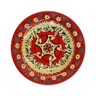 """Plate wooden """"Mezenskaya Rospis"""" 16 cm"""