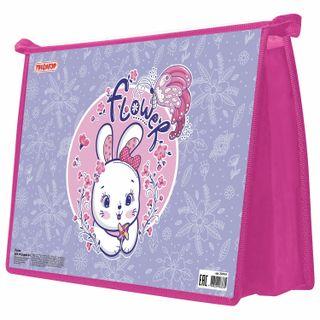 Folder for notebooks PYTHAGORAS A4, 1 compartment, cardboard, zipper top,