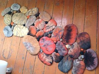 "Felted rug ""Kamenka"", handmade"