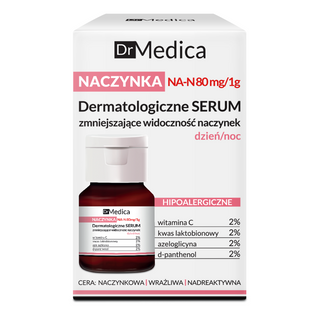 The serum diminishes visibility of capillaries day/night, hypoallergenic, DR MEDICA CAPILLARY SKIN, BIELENDA, 30ml