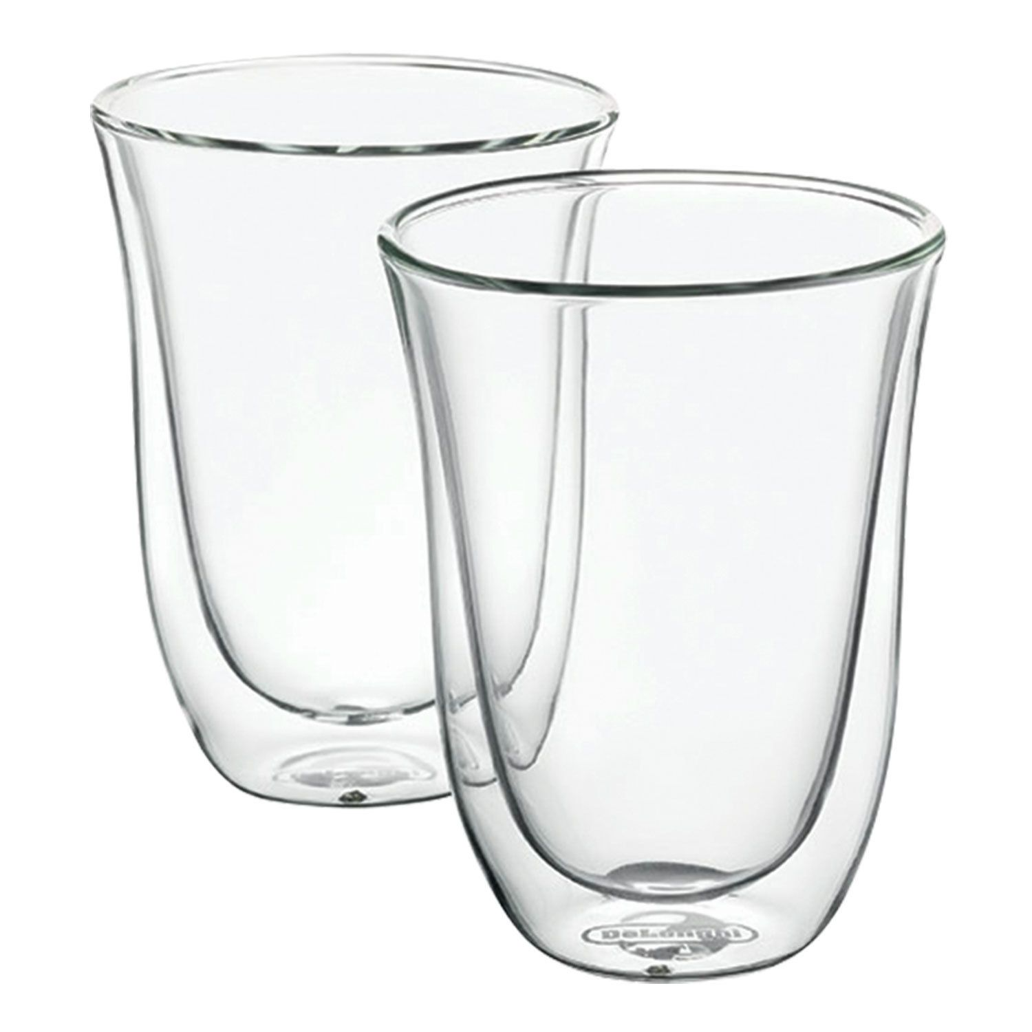 Set of coffee DELONGHI for latte for 2 people, glass, 220 ml, transparent