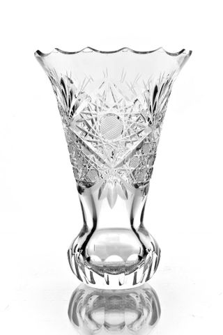 "Crystal vase for flowers ""Melisa"" colorless"