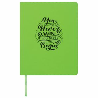 Diary 1-11 class 48 sheets, cover leather (light), print, BRAUBERG DAZZLE, green