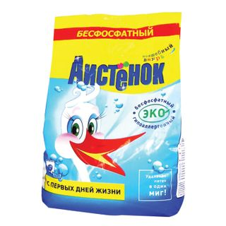"""Detergent powder for all types of washing AISTENOK """"Magic whirlwind"""", phosphate-free 2.4 kg"""