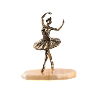 "The statuette ""Ballerina"" on a natural stone"