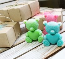 Handmade Soaps Teddy with a heart mix