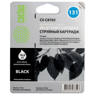 Inkjet cartridge CACTUS (CS-C8765) for HP Deskjet 460/5743/6543/6843, black, 16 ml