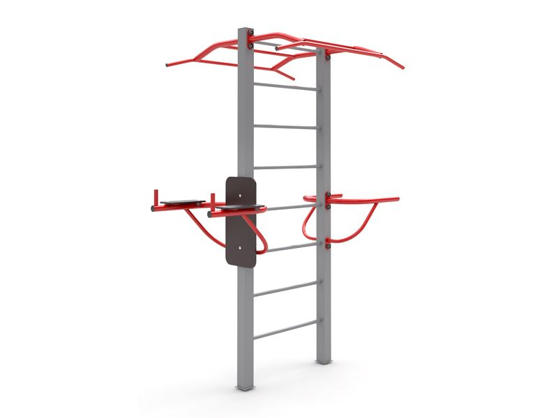 MB Barbell / Swedish wall with horizontal bar and parallel bars for outdoor playground