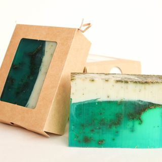 Lime and Mint whetstone 1kg - handmade soap with the scent of lime, lavender and mint
