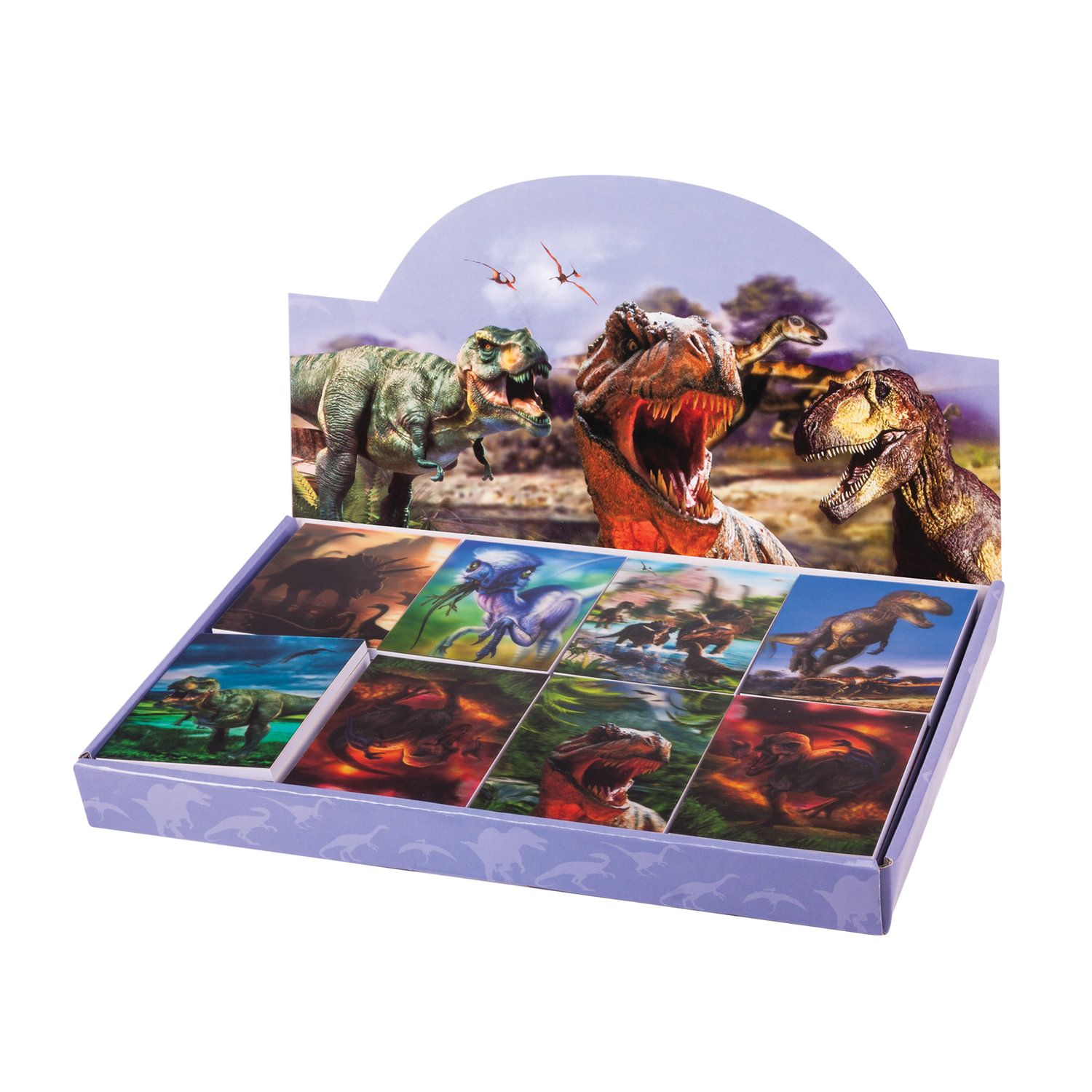 """BRAUBERG / Non-ruled notebook """"Dinosaurs"""" SMALL FORMAT 40 sheets A7, 64x82 mm, gluing, plastic 3D cover, assorted"""