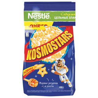 Sprockets NESTLE KOSMOSTARS (Nestle Kosmostars) crispy, with honey, 450 g, soft bag