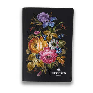 The diary of the author's Zhostovo hand-painted, black