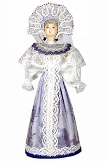Doll gift porcelain. Girl in Russian costume (styling).
