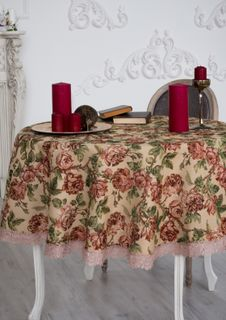 Tablecloth with lace Rochelle
