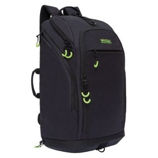 GRIZZLY business backpack with Shoe compartment, black, 54x32x21 cm
