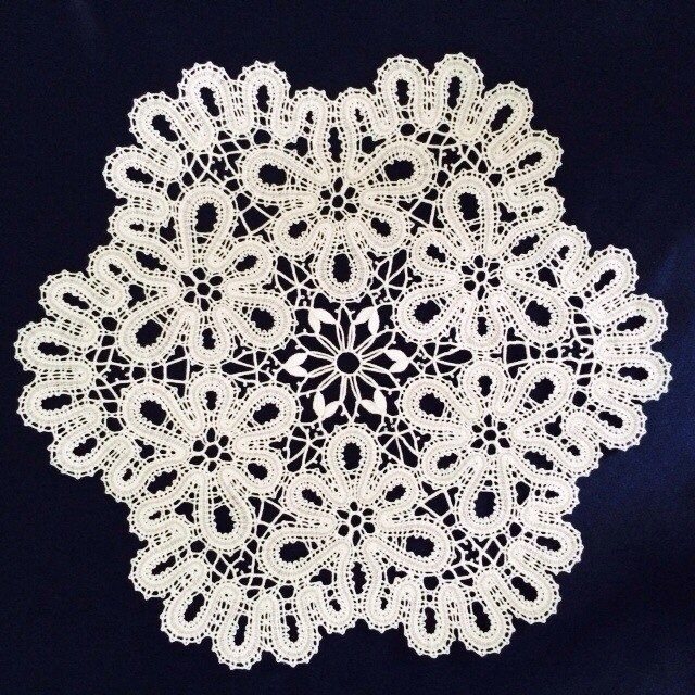"""Lace doily """"Winter forest"""""""
