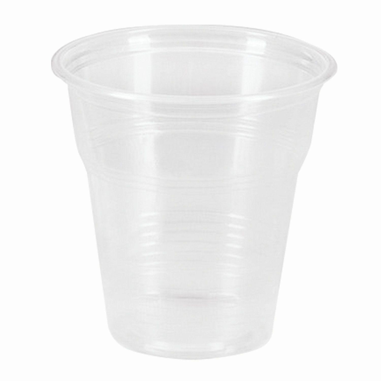 STIROLPLAST / Disposable cups 100 ml, SET 100 pcs., Plastic, transparent, PP, cold / hot