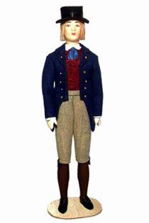 Doll gift. Estonian men's suit mid-19th century. Region: Laane-Virumaa.